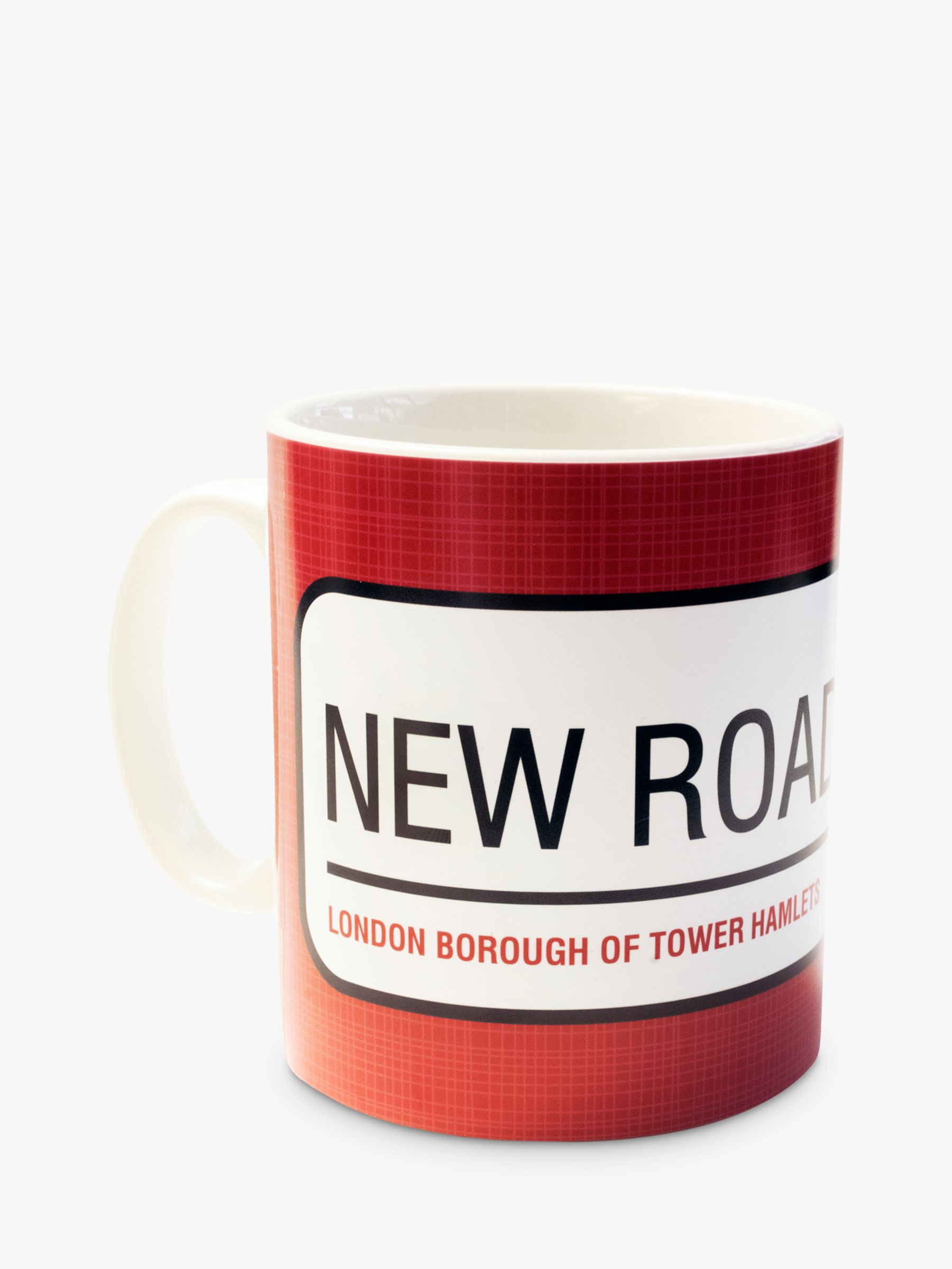 A Piece Of A Piece Of Personalised Street Sign Mug, Red