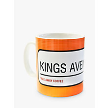 Buy A Piece Of Personalised Street Sign Mug, Orange Online at johnlewis.com