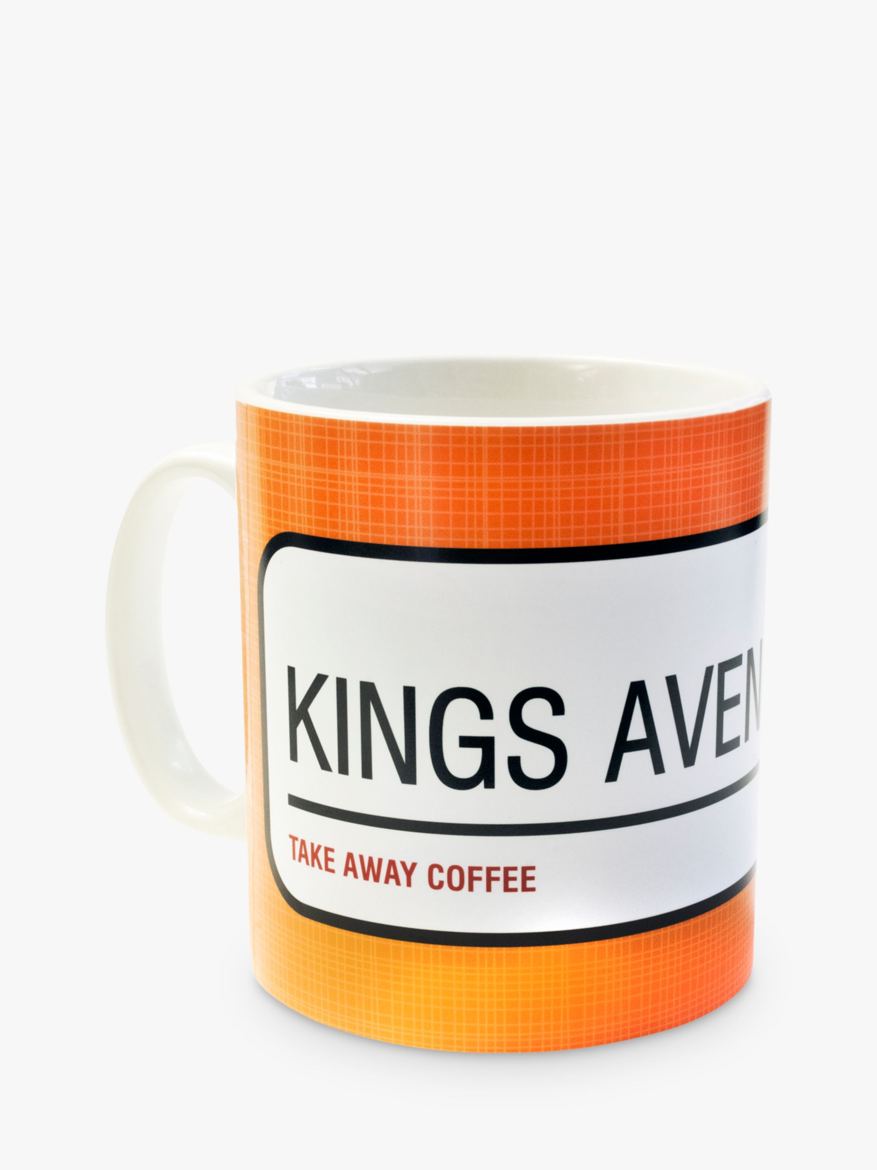 A Piece Of A Piece Of Personalised Street Sign Mug, Orange