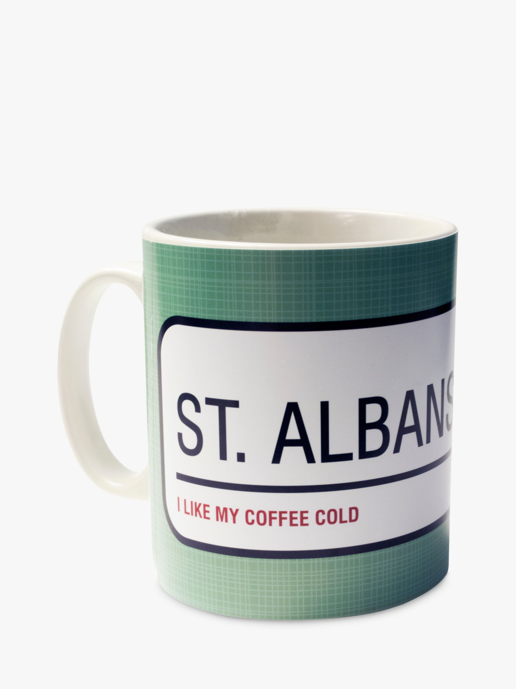 A Piece Of A Piece Of Personalised Street Sign Mug, Teal