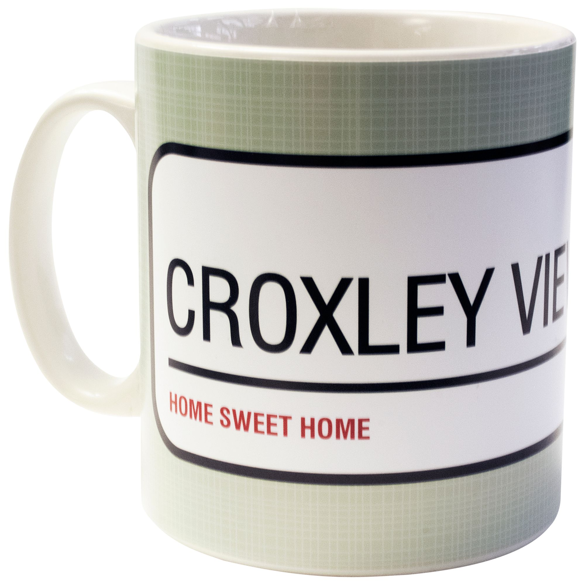 A Piece Of A Piece Of Personalised Street Sign Mug, Sage