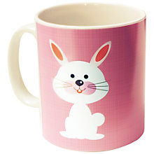 Buy A Piece Of Personalised Bunny Mug, Pink Online at johnlewis.com