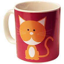 Buy A Piece Of Personalised Cat Mug, Red Online at johnlewis.com
