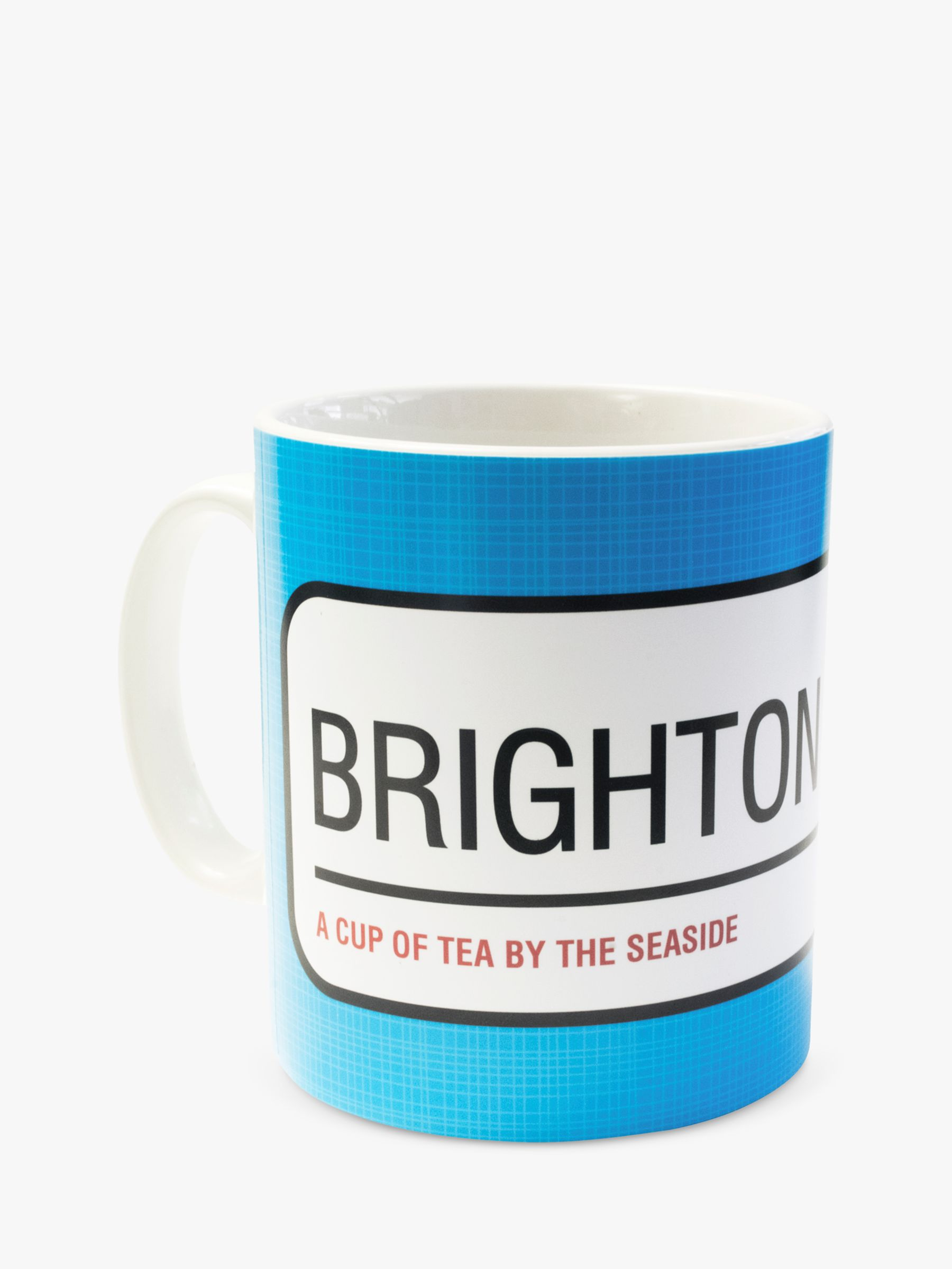 A Piece Of A Piece Of Personalised Street Sign Mug, Blue