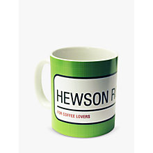 Buy A Piece Of Personalised Street Sign Mug, Green Online at johnlewis.com