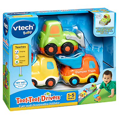 VTech Toot-Toot Drivers 3 Car Pack Construction Vehicles