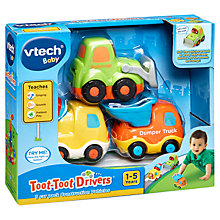 Buy VTech Toot-Toot Drivers 3 Car Pack Construction Vehicles Online at johnlewis.com