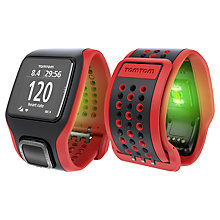 Buy TomTom Multi-Sport Cardio Heart Rate Monitor Watch, Red Online at johnlewis.com