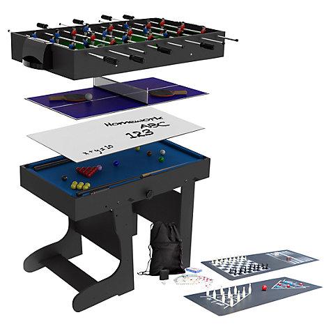 buy bce riley 12 in 1 folding multi games table john lewis. Black Bedroom Furniture Sets. Home Design Ideas