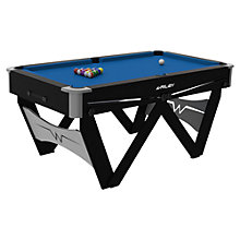 "Buy BCE Riley ""W"" Leg 5 Foot Folding Pool Table, Black/Blue Online at johnlewis.com"