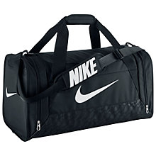 Buy Nike Brasilia 6 Medium Duffel Bag, Black Online at johnlewis.com