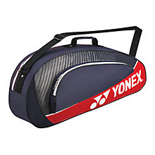 Buy Yonex Club Series 3 Piece Racquet Bag, Navy/Red Online at johnlewis.com