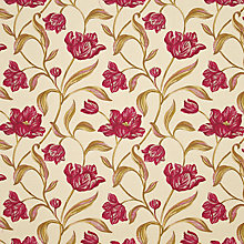 Buy John Lewis Lyssa Fabric, Red Online at johnlewis.com