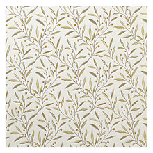 Buy John Lewis Guelder Berry Fabric, Yellow Online at johnlewis.com