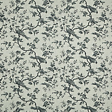 Buy John Lewis Botanica Bird Fabric, Black Online at johnlewis.com