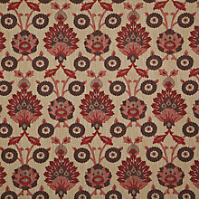 Buy John Lewis Valencia Fabric, Red Online at johnlewis.com