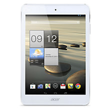 "Buy Acer Iconia A1-830 Tablet, Intel Atom, Android, 7.9"", Wi-Fi, 16GB, White & Silver Online at johnlewis.com"