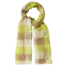 Buy White Stuff Woven Check Scarf, Pistachio Online at johnlewis.com