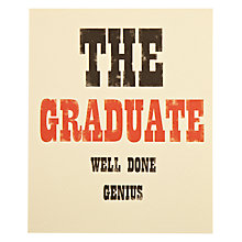 Buy Ink Press The Graduate Greeting Card Online at johnlewis.com