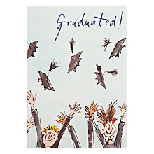 Buy Quentin Blake Throwing Hats Greeting Card Online at johnlewis.com