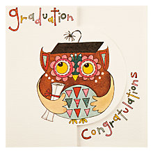 Buy Sugar Moon Graduation Owl Greeting Card Online at johnlewis.com