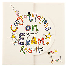 Buy Sugar Moon Congratulations Exams Greeting Card Online at johnlewis.com