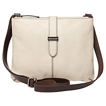 Buy White Stuff Naomi Leather Across Body Bag, Off White Online at johnlewis.com