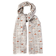Buy White Stuff Bee On Check Scarf, Off White Online at johnlewis.com