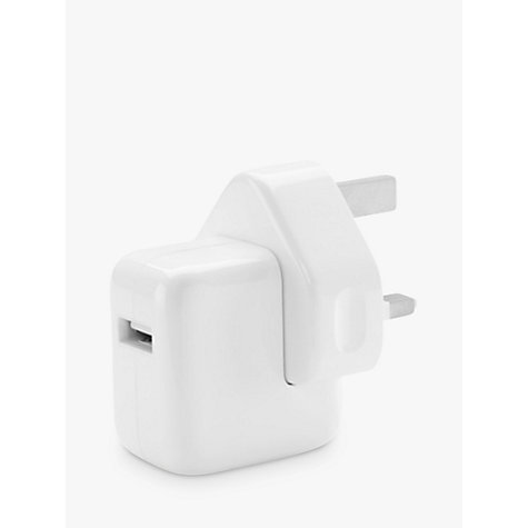 Buy Apple MD836B/A 12W USB Power Adapter for iPad, iPod & iPhone Online at johnlewis.com