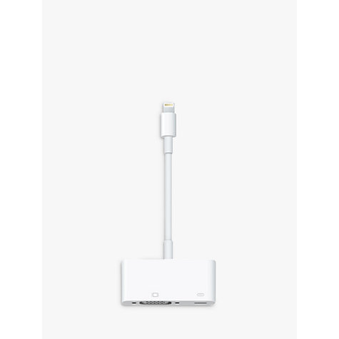Buy Apple MD825ZM/A Lightning to VGA Adapter Online at johnlewis.com