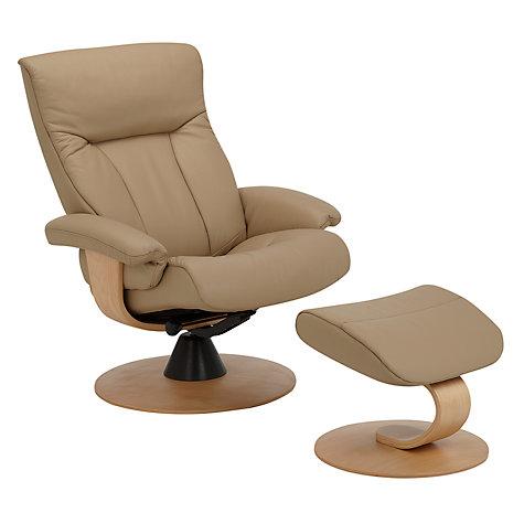 Buy John Lewis Tessin Swivel Recliner Chair Sandel Natural John Lewis