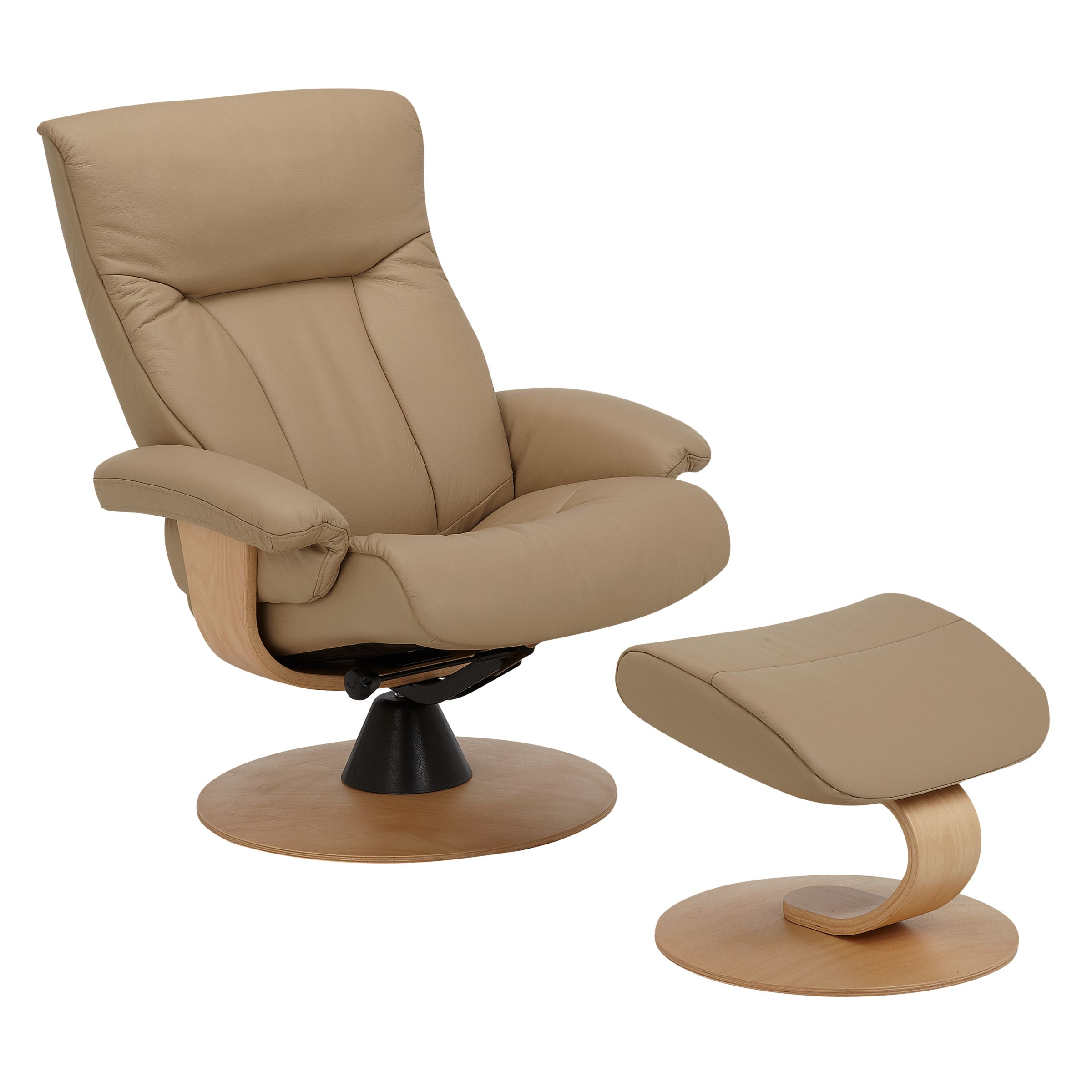 John Lewis Tessin Swivel Recliner Chair Sandel Natural