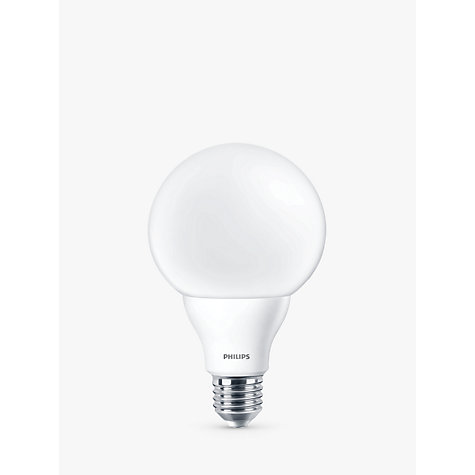 Buy Philips 9.5W ES LED G95 Globe Bulb, Frosted Online at johnlewis.com