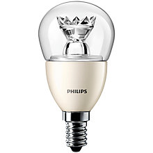 Buy Philips 6W SES LED Golf Ball Bulb, Clear Online at johnlewis.com
