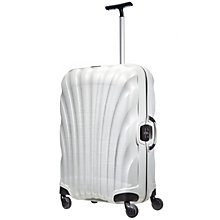 Buy Samsonite Lite Locked Spinner 4-Wheel 69cm Medium Suitcase, White Online at johnlewis.com