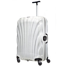 Buy Samsonite Lite Locked Spinner 4-Wheel 75cm Large Suitcase, White Online at johnlewis.com