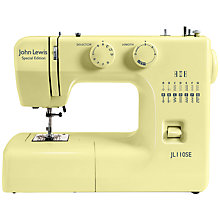 Buy John Lewis JL110 Sewing Machine, Yellow Online at johnlewis.com