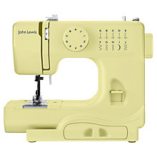 Buy John Lewis Mini Sewing Machine, Yellow Online at johnlewis.com