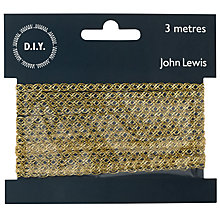 Buy John Lewis Fine Metallic Trim, 3m Online at johnlewis.com