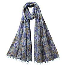 Buy East Anokhi Gracie Print Scarf, Oceanx Online at johnlewis.com