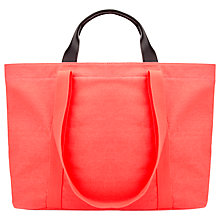 Buy Whistles Alek Large Canvas Shopper Bag, Coral Online at johnlewis.com