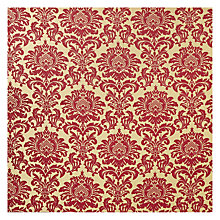 Buy John Lewis Conway Damask Curtain, Maroon Online at johnlewis.com