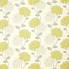 Buy Maggie Levien for John Lewis Chrysanthe Print Curtain, Sulphur Online at johnlewis.com
