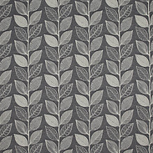 Buy John Lewis Amy Leaf Curtain, Grey Online at johnlewis.com