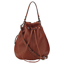 Buy Jigsaw Vancouver Duffle Handbag, Rust Online at johnlewis.com