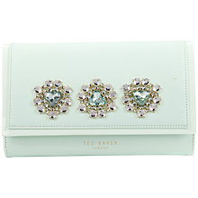 Buy Ted Baker Gemirr Jewelled Oversized Clutch Bag, Mint Online at johnlewis.com