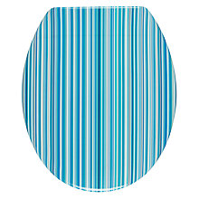 Buy John Lewis Stardust Toilet Seat, Blue Stripe Online at johnlewis.com