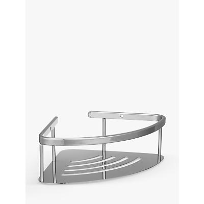 John Lewis Contemporary Brass and Stainless Steel Deep Corner Shower Basket