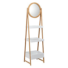 Buy House by John Lewis Bamboo Mirror Shelf Online at johnlewis.com