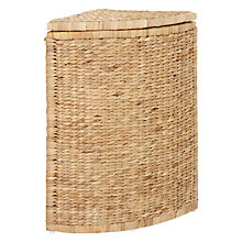Buy John Lewis Water Hyacinth Corner Laundry Basket Online at johnlewis.com